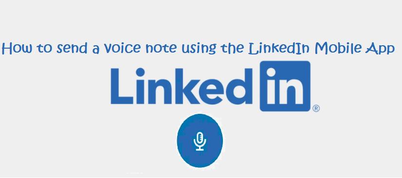 linkedin audio message