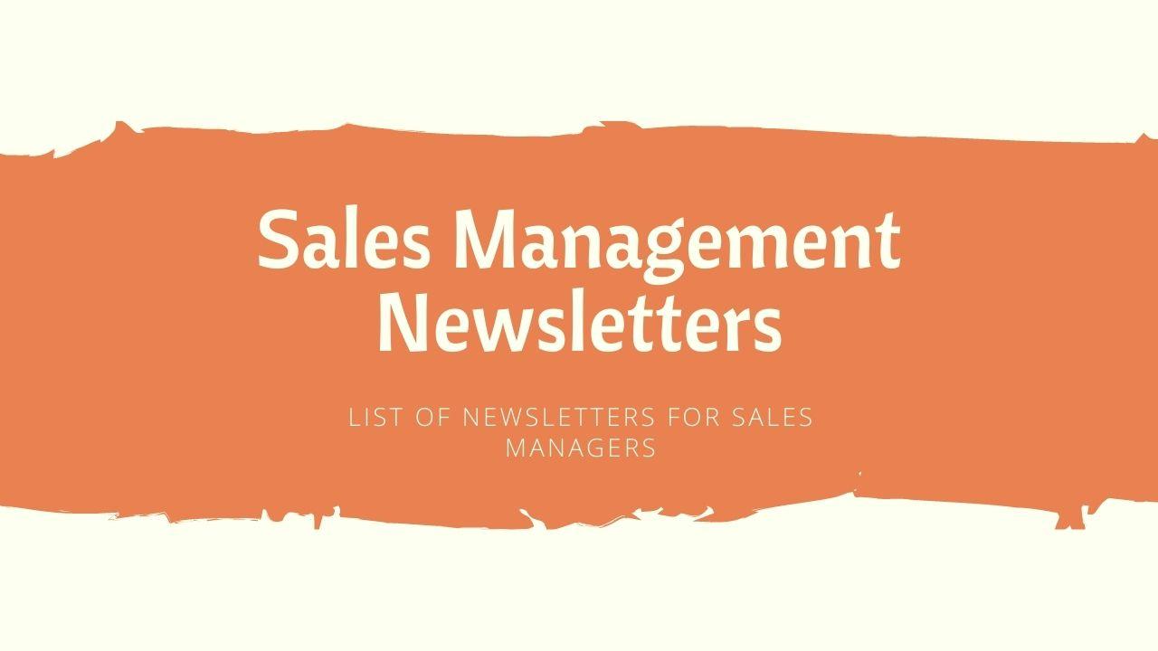 sales management newsletter