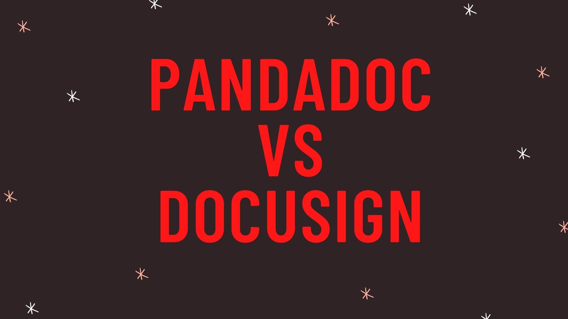 PandaDoc vs DocuSign